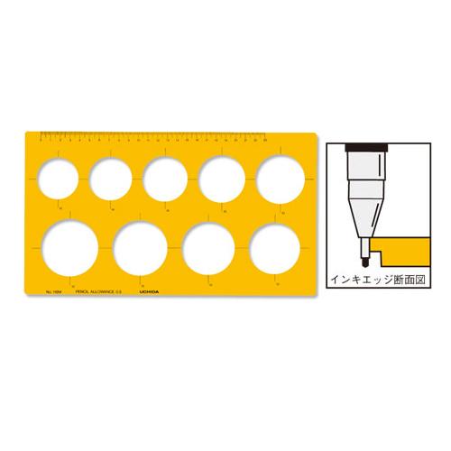 ウチダテンプレート No.116M 円定規(1-843-0016)