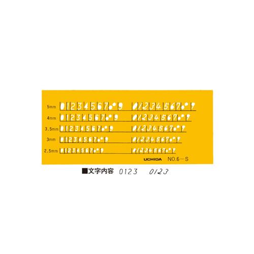 ウチダテンプレート No.6-S 数字定規(1-843-1016)