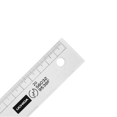 ウチダ 直線定規24cm型(1-807-2402)