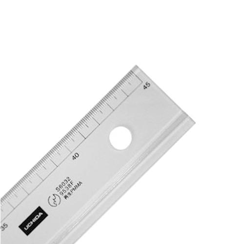 ウチダ 溝線定規45cm型(1-807-8045)
