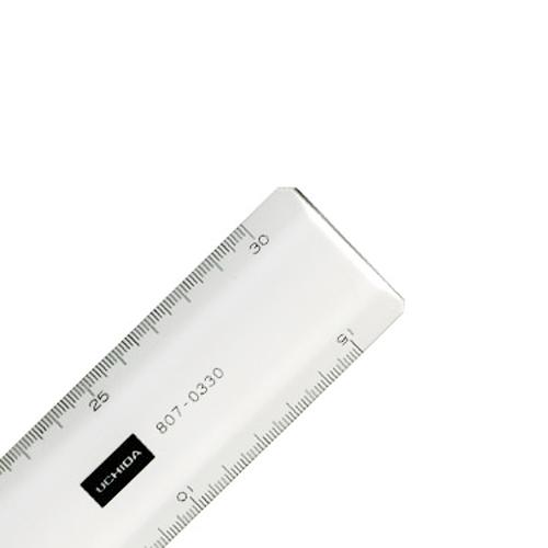 ウチダ 超硬直線定規30cm型(1-807-0330)