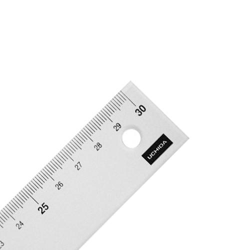 ウチダ 端目盛り定規30cm型(7-460-0011)