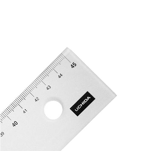 ウチダ 端目盛り定規45cm型(7-460-0012)