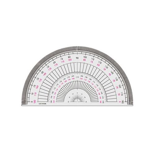 ウチダ 半円分度器18cm型(1-822-0104)