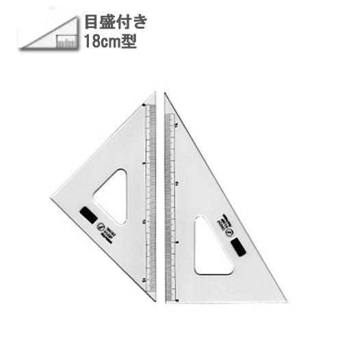 ウチダ 三角定規18cm型[目盛付](1-809-1802)