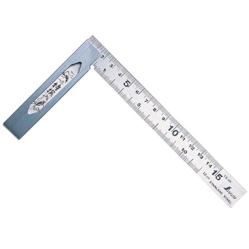 シンワ 完全スコヤ[表裏同目]15cm(62009)