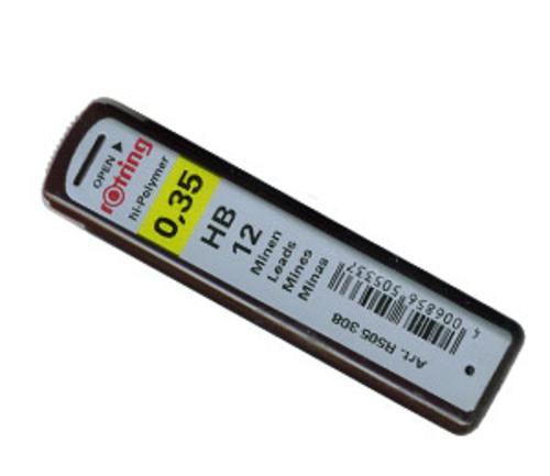 ロットリング シャープ芯[0.35mm]HB(S0312410)