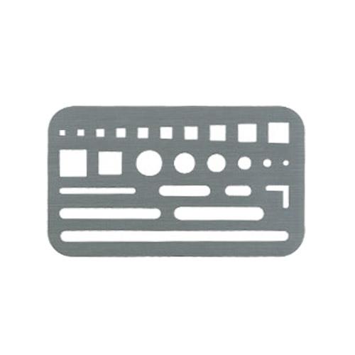 ウチダ ステンレス字消板[B](1-820-0003)
