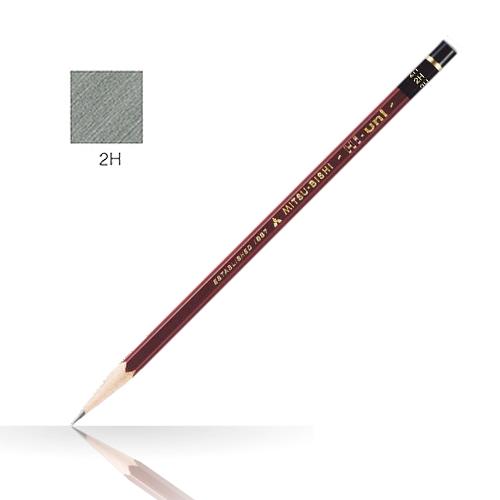 三菱 ハイユニ鉛筆 2H