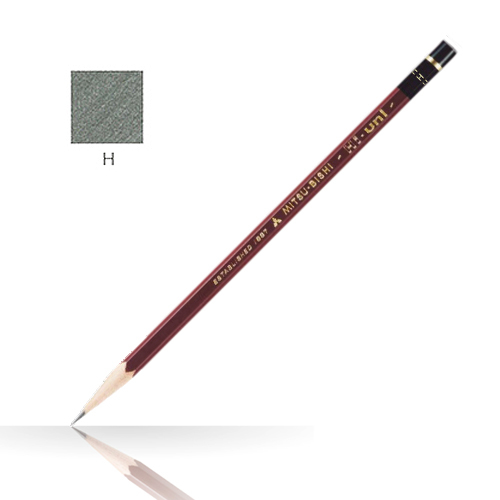 三菱 ハイユニ鉛筆 H