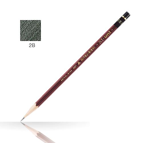 三菱 ハイユニ鉛筆 2B
