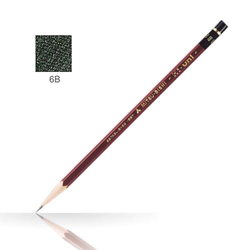 三菱 ハイユニ鉛筆 6B