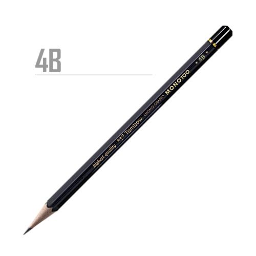 トンボ 鉛筆MONO[100]4B