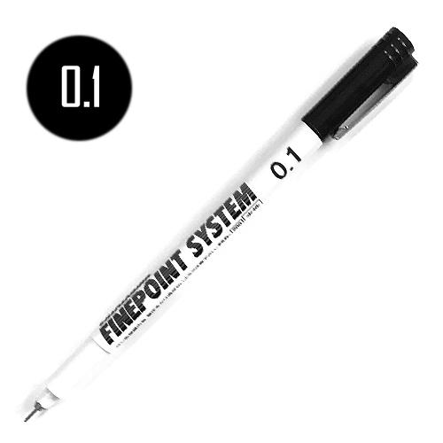 タチカワ ファインポイントシステム[水性]黒 0.1mm