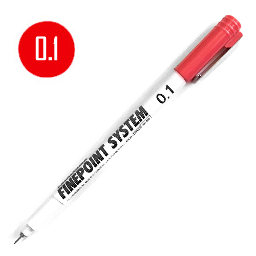 タチカワ ファインポイントシステム[水性]赤 0.1mm