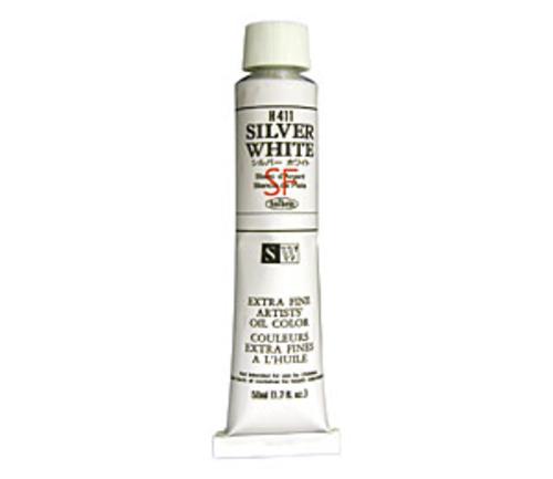 ホルベイン 油絵具10号(50ml) H411 シルバーホワイト