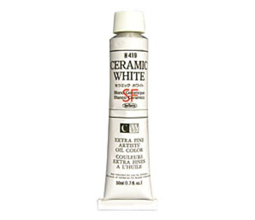ホルベイン 油絵具10号(50ml) H419 セラミックホワイト