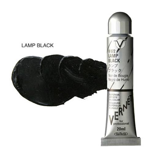 ホルベイン ヴェルネ油絵具6号[20ml]ランプブラック(V072)