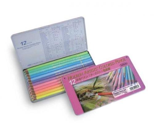 ホルベイン アーチスト色鉛筆 12色セット[パステル](OP903)