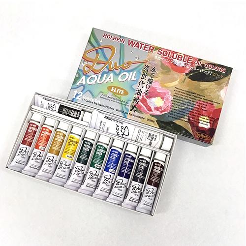 ホルベイン デュオ油絵具20ml エリート12色セット(DU905)