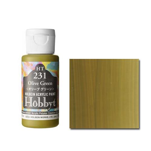 ホルベイン ホビット35ml オリーブグリーン(HT231)