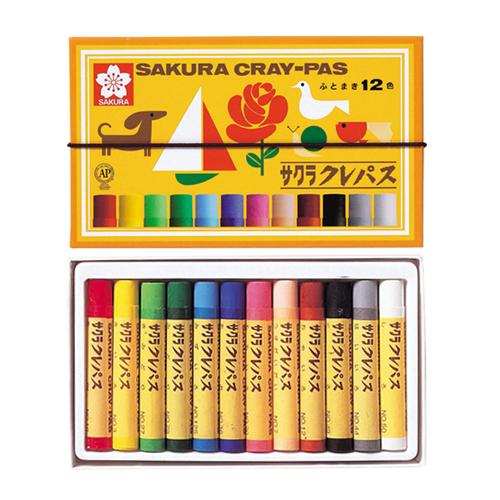 サクラ クレパス太巻12色セット(LP12R)