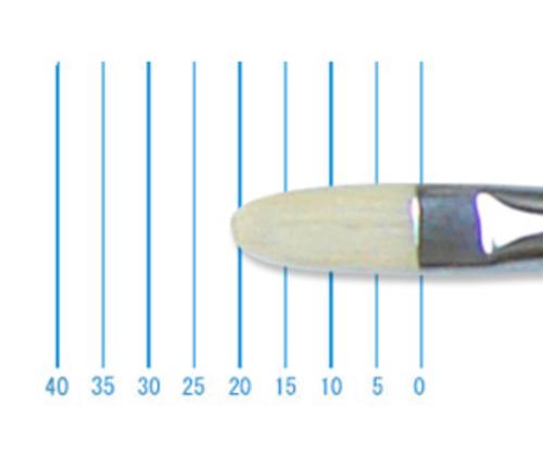 ホルベイン油彩筆 EL-f(フィルバート・豚毛)10号