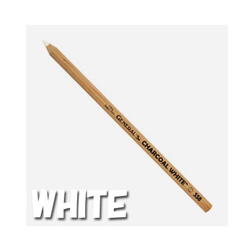 ゼネラル チャコールペンシル 558ホワイト