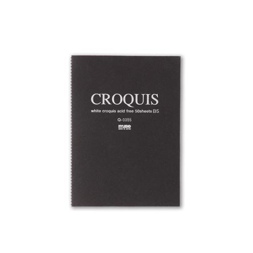 ミューズ ホワイトクロッキー B5(黒表紙)Q-0355
