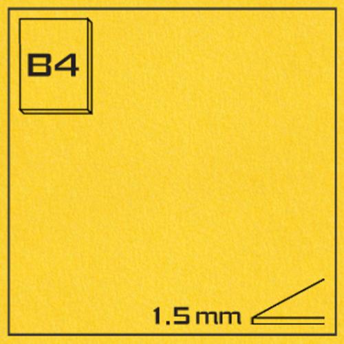オリオン エクストラカラーボード EA-B4・イエロー[10枚組]1.5mm厚