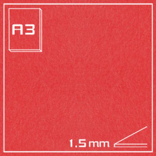 オリオン エクストラカラーボード EA-A3・レッド[10枚組]1.5mm厚