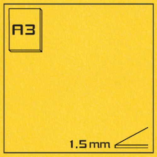 オリオン エクストラカラーボード EA-A3・イエロー[10枚組]1.5mm厚