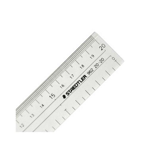 ステッドラー 直線定規[両側目盛]20cm(962 20-20)