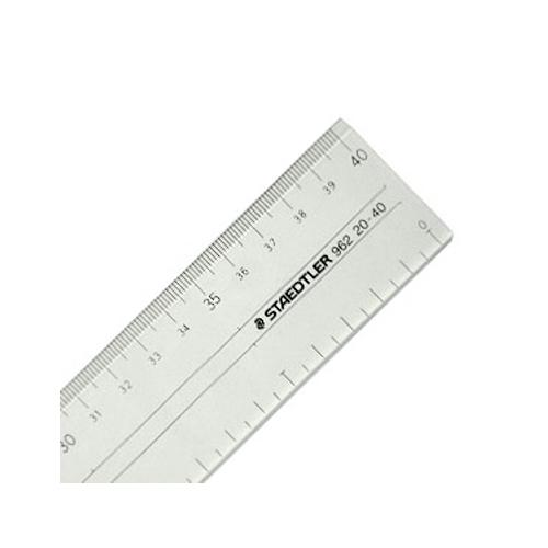 ステッドラー 直線定規[両側目盛]40cm(962 20-40)