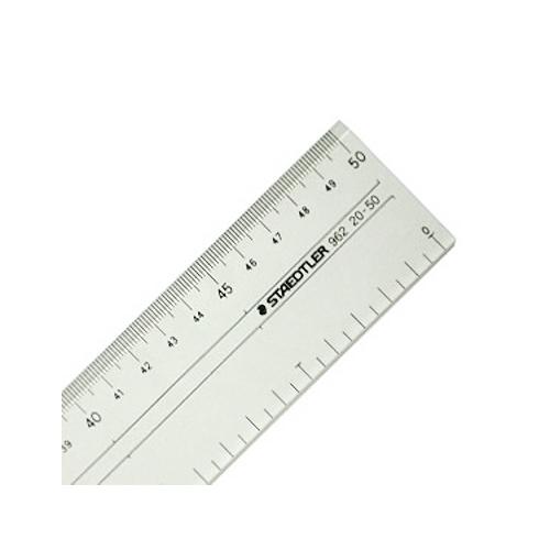 ステッドラー 直線定規[両側目盛]50cm(962 20-50)