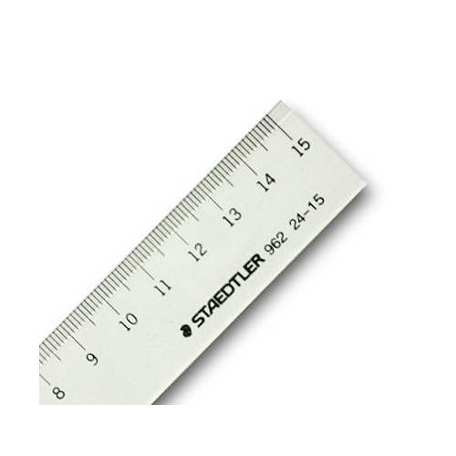 ステッドラー 直線定規[片側目盛]15cm(962 24-15)