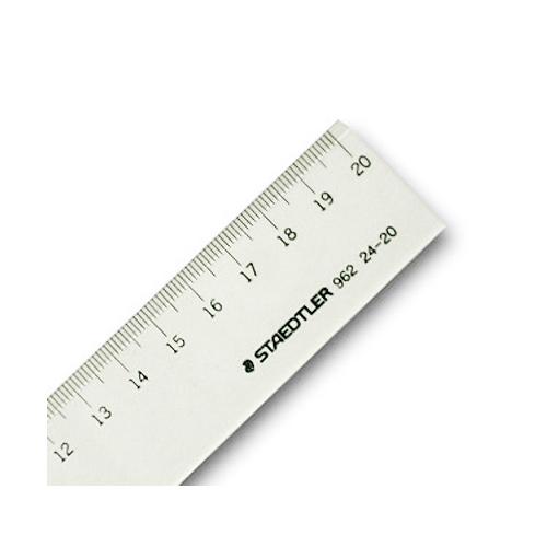 ステッドラー 直線定規[片側目盛]20cm(962 24-20)