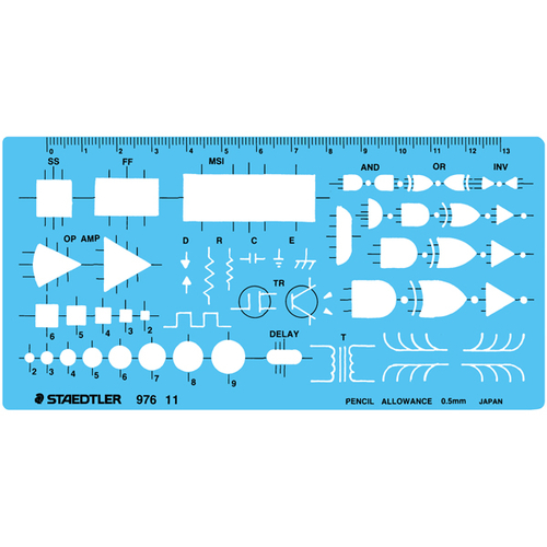 ステッドラー テンプレート 論理回路定規(976 11)