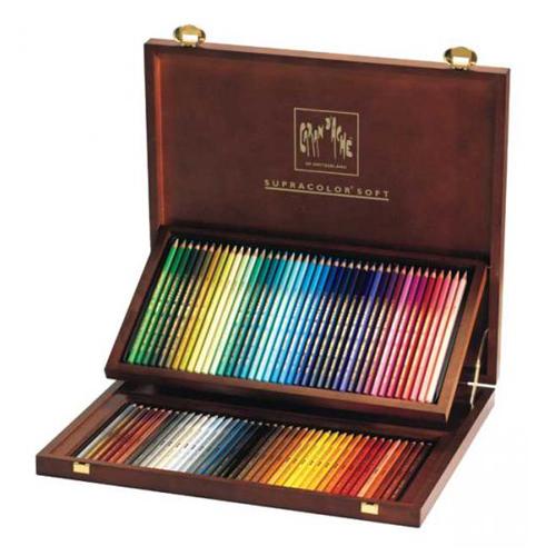 カランダッシュ スプラカラーソフト水溶色鉛筆 80色セット(木箱入り)