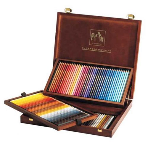 カランダッシュ スプラカラーソフト水溶色鉛筆 120色セット(木箱入り)