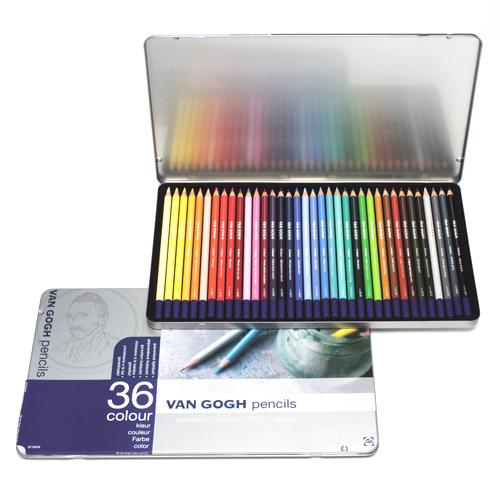 ヴァンゴッホ色鉛筆 36色セット(メタルケース)