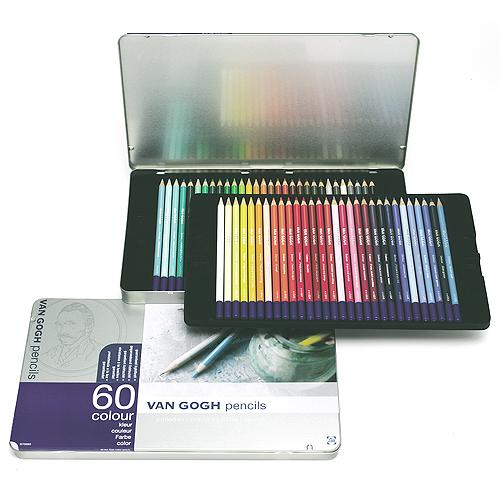 ヴァンゴッホ色鉛筆 60色セット(メタルケース)