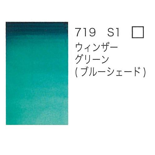 W&N プロフェッショナル水彩ハーフパン 719ウィンザーグリーン(ブルーシェード)