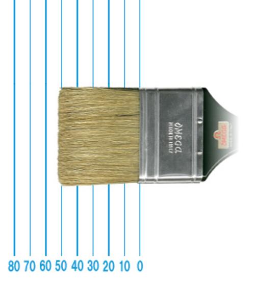 オメガ ペイントブラシ 42(フラット)#60