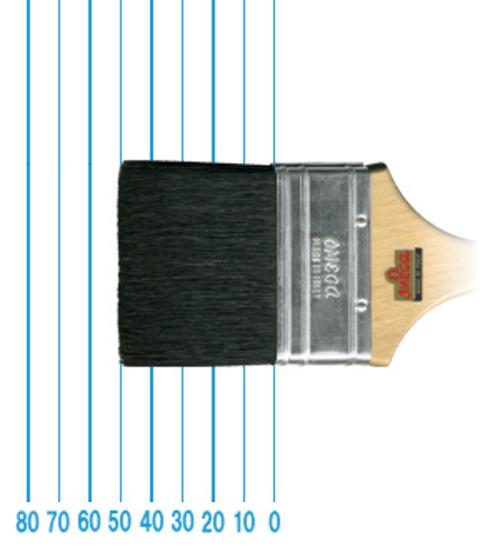 オメガ ペイントブラシ 510(フラット)#2・1/2