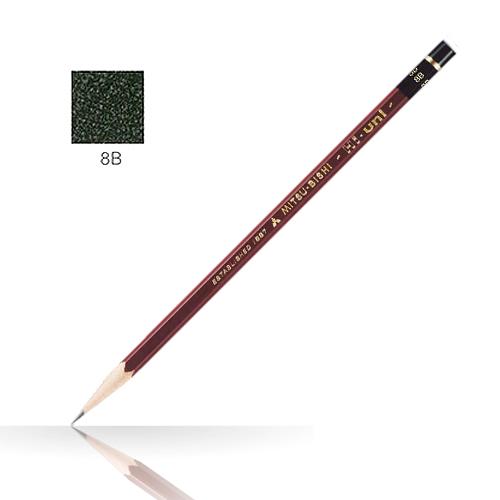 三菱 ハイユニ鉛筆 8B