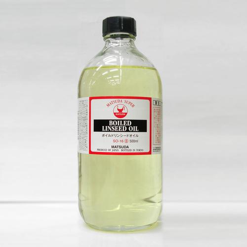 マツダ スーパー画用液 ボイルドリンシードオイル 500ml