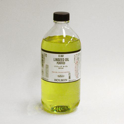ホルベイン 画用液 リンシードオイル 500ml(O302)