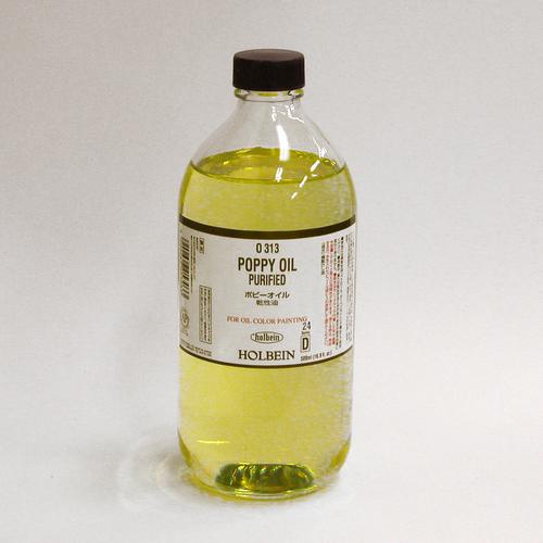 ホルベイン 画用液 ポピーオイル 500ml(O313)