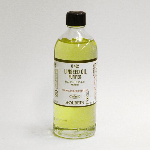 ホルベイン 画用液 リンシードオイル 200ml(O402)